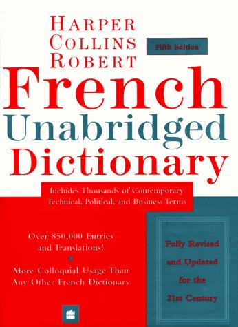French Unabridged Dictionary 9780062708168