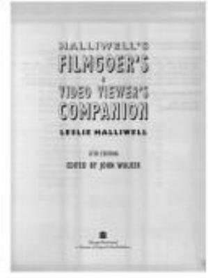 Halliwell's Filmgoer's and Vidoeviewer's Companion