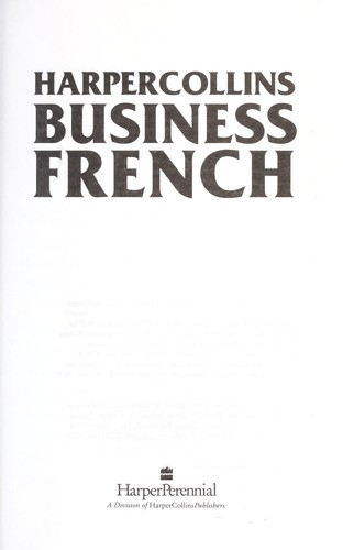 HarperCollins Business French