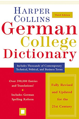 HarperCollins German College Dictionary 3rd Edition