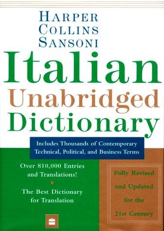 HarperCollins Sansoni Italian Dictionary
