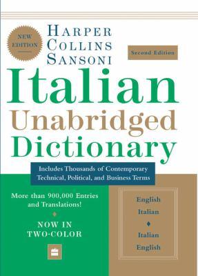 HarperCollins Sansoni Italian Unabridged Dictionary 9780060817749
