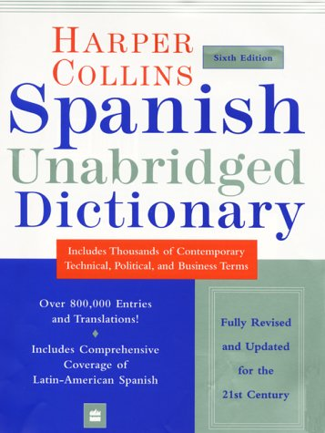 HarperCollins Spanish Unabridged Dictionary, 6e 9780060956912