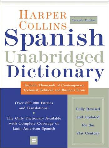 HarperCollins Spanish Unabridged Dictionary, 7e