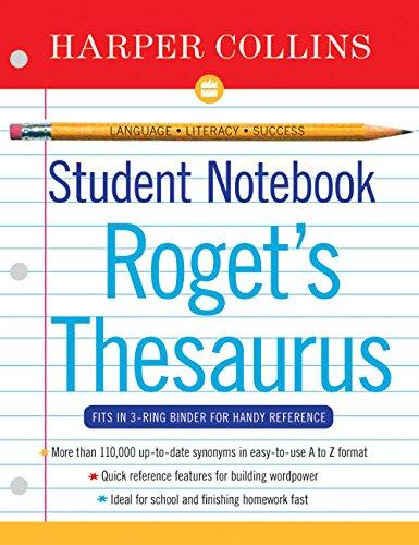 HarperCollins Student Notebook A-Z Thesaurus 9780060595470