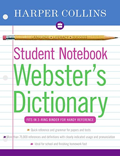 HarperCollins Student Notebook Webster's Dictionary 9780060595449