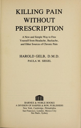 Killing Pain Without Prescription