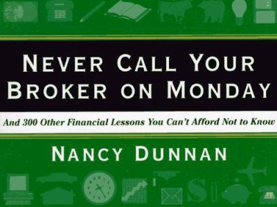 Never Call Your Broker on Monday