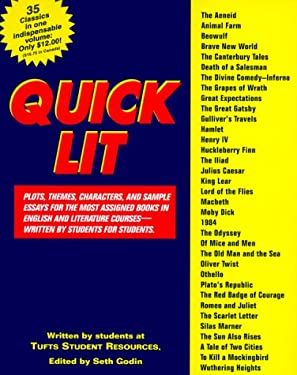 Quick Lit: Plots, Themes, Characters, AMD Sample Essays for the Most Assigned Books in Engl