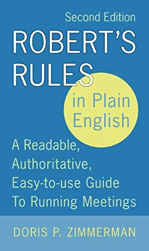 Robert's Rules in Plain English 9780060787790