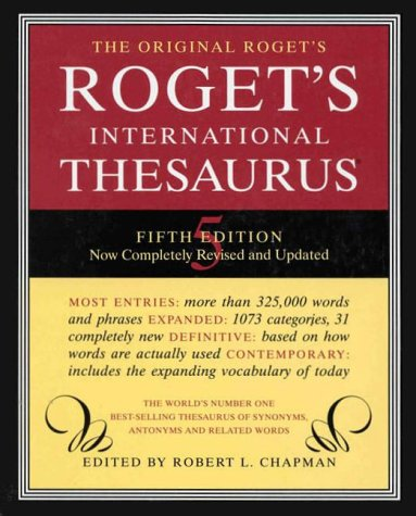 Roget International Thesaurus Index 5e 9780062700148
