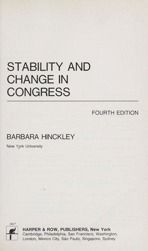 Stability and Change in Congress