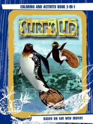Surf's Up: Coloring and Activity Book 3-In-1