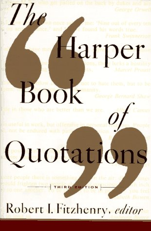 The Harper Book of Quotations Revised Edition 9780062732132