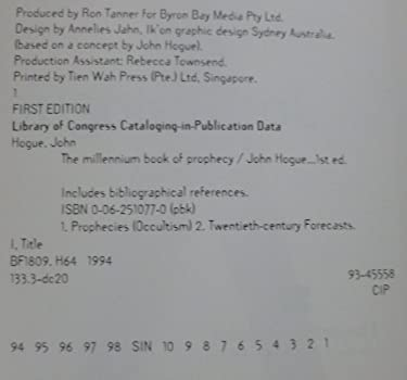 The Millennium Book of Prophecy: 777 Visions and Predictions from Nostradamus, Madam Blavatsky...
