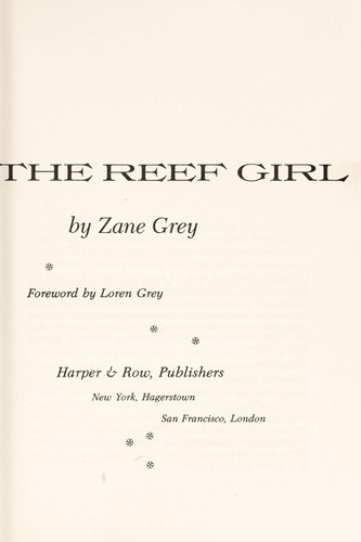 The Reef Girl