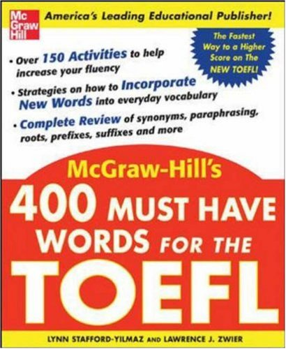 400 Must-Have Words for the TOEFL 9780071443289