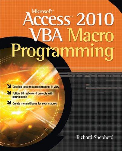 Microsoft Access 2010 VBA Macro Programming 9780071738576