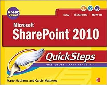 Microsoft Sharepoint 2010 Quicksteps 9780071741934
