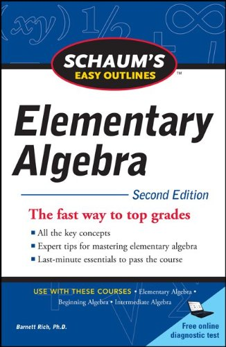 Schaum's Easy Outline of Elementary Algebra, Second Edition 9780071745833