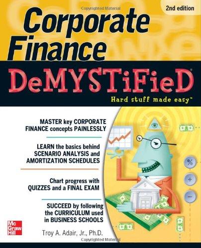 Corporate Finance Demystified 9780071749077