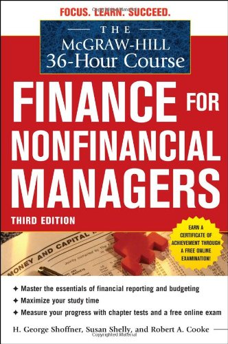 Finance for Nonfinancial Managers 9780071749558