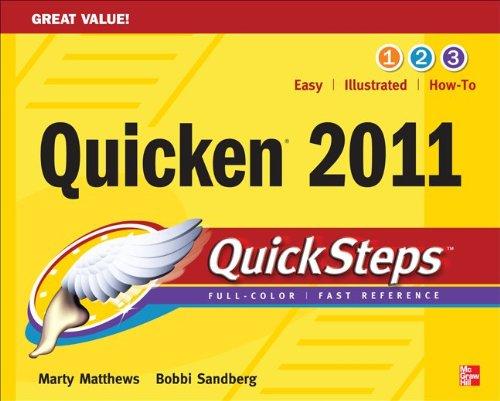 Quicken 2011 Quicksteps 9780071752565