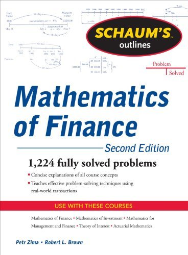 Schaum's Outline of Mathematics of Finance, Second Edition 9780071756051