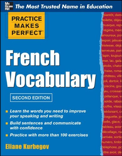 Practice Make Perfect French Vocabulary 9780071762427
