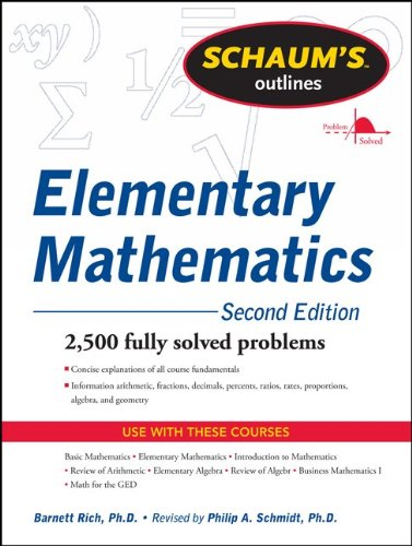 Schaum's Outline of Elementary Mathematics 9780071762540