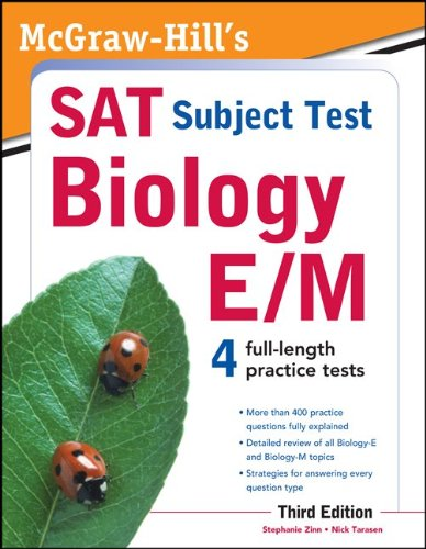 McGraw-Hill's SAT Subject Test Biology E/M, 3rd Edition 9780071763332