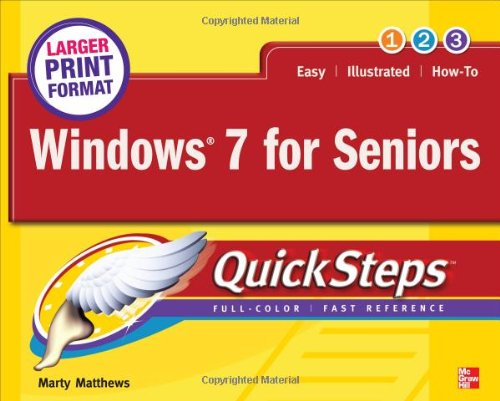 Windows 7 for Seniors Quicksteps 9780071768054
