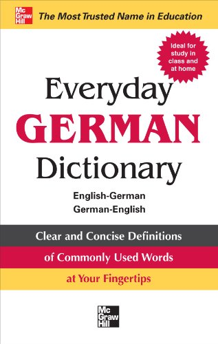 Everyday German Dictionary: English-German/German-English 9780071768801