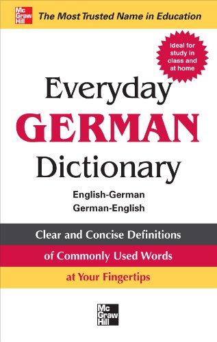 Everyday German Dictionary: English-German/German-English