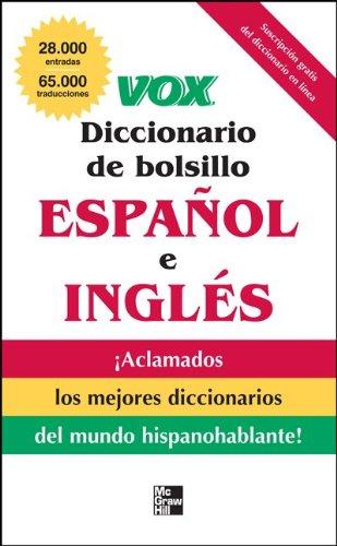 Vox Diccionario de Bolsillo Espanol E Ingles 9780071780865