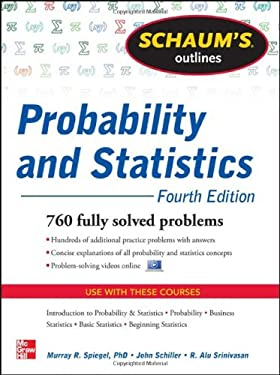 Schaum's Outline of Probability and Statistics, 4th Edition 9780071795579