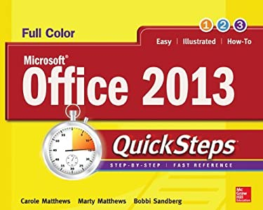 Microsoft(r) Office 2013 Quicksteps 9780071805872