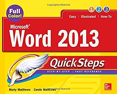 Microsoft(r) Word 2013 Quicksteps 9780071805971