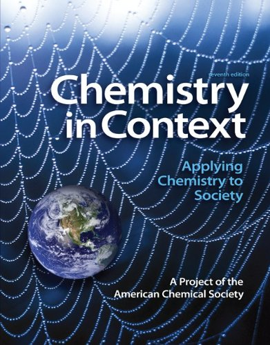 Chemistry in Context: Applying Chemistry to Society 9780073375663
