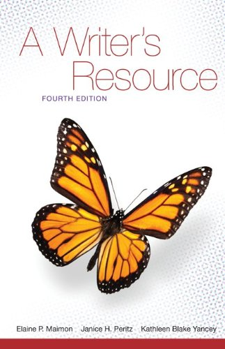 A Writer's Resource: A Handbook for Writing and Research 9780073384030