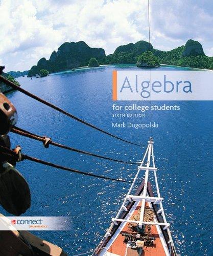 Algebra for College Students 9780073384344