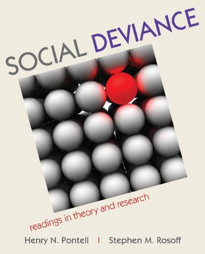 Social Deviance: Readings in Theory and Research 9780073404417