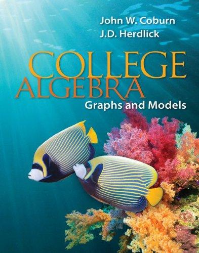 College Algebra: Graphs & Models 9780073519548