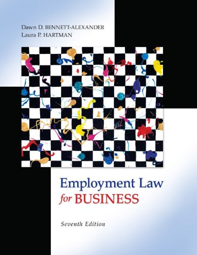 Employment Law for Business 9780073524962