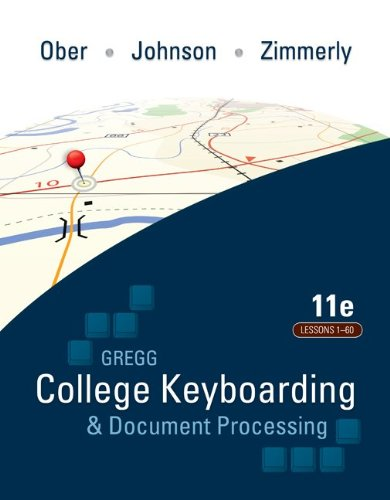 College Keyboarding & Document Processing: Word 2010: Kit 1: Lessons 1-60 [With Student Registration Card and 2 Paperbacks and Easel]