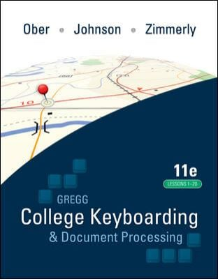 Gregg College Keyboarding & Document Processing, Kit 4: Lessons 1-20 [With Easel and Software Registration Card] 9780077377144