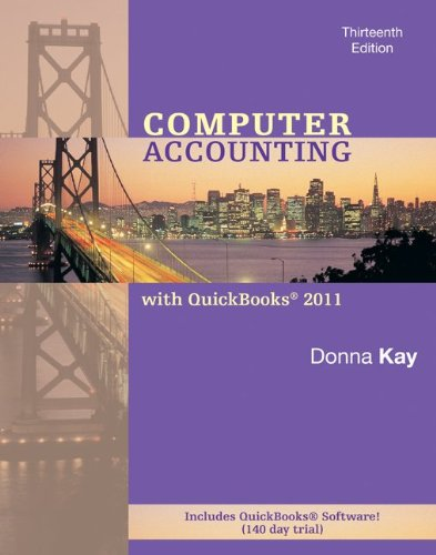Computer Accounting with QuickBooks 2011 [With 2 CDROMs] 9780077499860