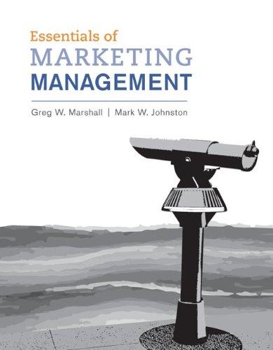 Essentials of Marketing Management 9780078028786
