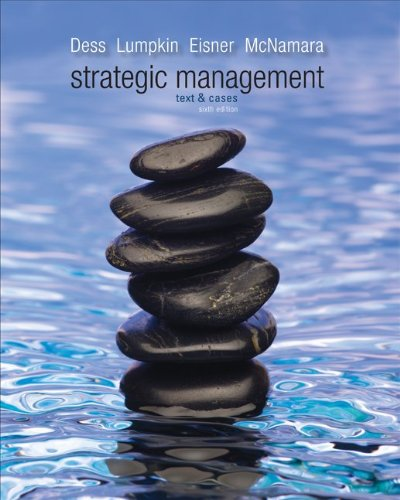 Strategic Management: Text and Cases 9780078029318