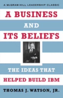 A Business and Its Beliefs 9780071626453